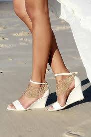 Wedding Shoes For Bride Comfortable Ladies Ivory Wedges Ivory Heels Bridal Wedges Comfortable
