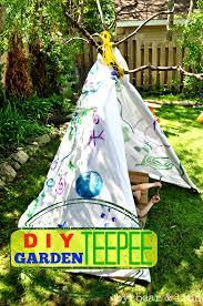 make your own backyard teepee
