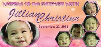 layout for tarpaulin baptismal jillian christening creative design makati