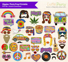 printable hippie photo booth props hippies photo props printable hippy party printable flower
