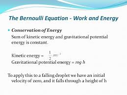 the bernoulli equation work and energy