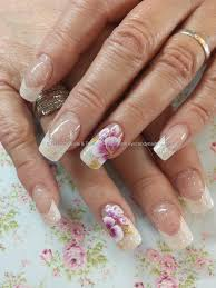 eye candy nails u0026 training white french with one stroke flower