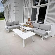 canape jardin aluminium salon jardin aluminium blanc mc immo