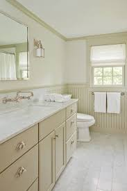beadboard bathroom contemporary with cream trim bronze fixtures
