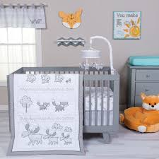 Northwoods Crib Bedding Gray Aztec Baby Bedding Set
