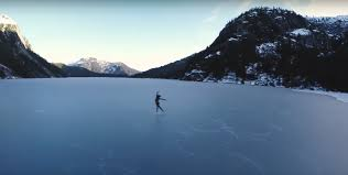 vancouver figure skater dances atop frozen widgeon lake in