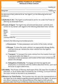 Limited Power Of Attorney Template by Power Of Attorney Form California Retrieval Of Motor Vehicle