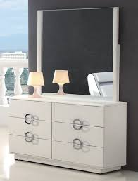 modern white dresser with mirror casual modern white dresser