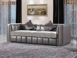 Fabric Modern Sofa Italy Top Grade Cow Leather Sofa Modern Sofa With Fabric
