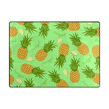 Pineapple Area Rug Alaza Soft Modern Pineapples And Slices Area