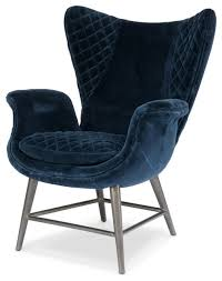 Blue Occasional Chair Design Ideas Enthralling Amazing Of Blue Velvet Accent Chair With Roul On