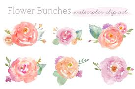 Watercolor Flowers - flower bunches watercolour clip art watercolor clip art and flower