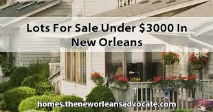 for sale under 3000 in new orleans