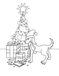 mummy and baby kangaroo decorating christmas tree coloring games