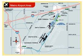 detroit metro airport map great lakes its study and lessons learned for the airport its