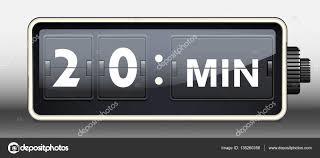horloge de bureau minuteur rond horloge bureau 20 minutes image vectorielle lisess