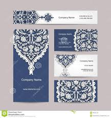 set of business cards design turkish ornament stock vector