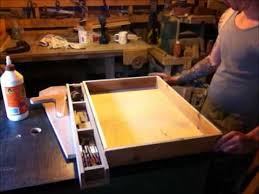 add a drawer under a table making and adding a drawer to a table youtube