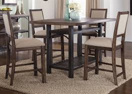 franklin counter height gathering table 5 piece dining set in