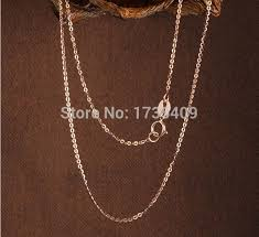 pendant l with chain best au750 solid rose gold necklace design chain 1 2g 16 l in