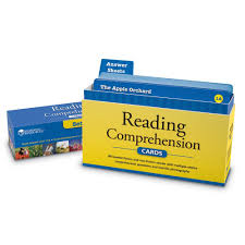 amazon com reading comprehension card set 4 learning resources