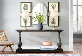 buffet sideboard cabinet storage kitchen hallway table industrial rustic 6 ways to style your console table joss