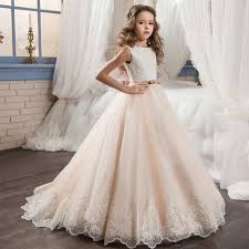 scoop bow beautiful pageant graduation dress for size