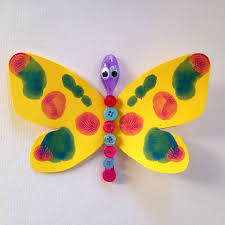 spoon button butterfly my kid craft