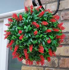 Flower Topiary Best Artificial Tm Lush Red Long Leaf Lavender Hanging Flower