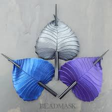 hair sticks leather birch leaf hair sticks in colors beadmask