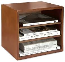 Desk Organizer Shelves Bindertek Stacking Wood Desk Organizers Cube With Shelves