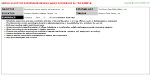 Massage Therapy Resume Samples by Elevator Supervisor Resume Sample