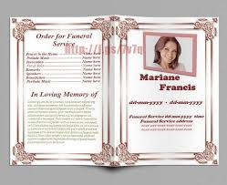 sle funeral program template for funeral service ideas exle resume ideas