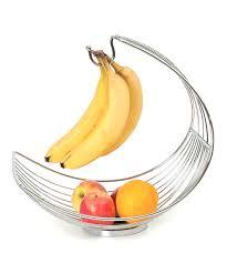 modern fruit holder design products steel basket u0026 banana holder zulily