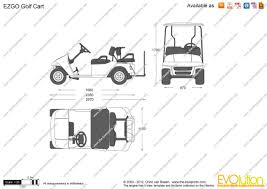 the blueprints com vector drawing ezgo golf cart