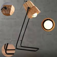 brief diy assembles wooden desk lamp table light iron holder with ventilation holes bar cafe decor lighting in desk lamps from lights lighting on