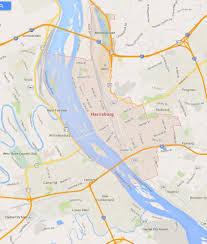 Google Map Pennsylvania Usa by Harrisburg Pennsylvania Map