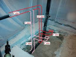 Basement Bathroom Vent Pipe Basement Bathroom Rough In Pipe Routing Pictures Doityourself