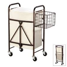 Laundry Hamper With Wheels by Decor Interesting Wire Rolling Laundry Cart With Wire Basket And