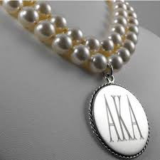 round pearl necklace images Greece greek sorority customize pendant round silver aka double jpg