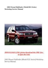 pathfinder nissan 2003 28 2003 nissan pathfinder service manual 12961 2003 nissan