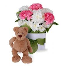 teddy delivery cheap teddy gift with bouquet delivery online in sucat