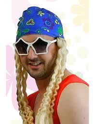 bandana hippie bandana hippie avec perruque adulte mister