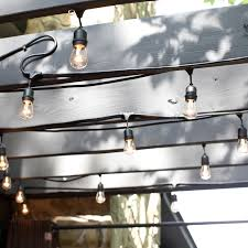 Edison Bulb Patio String Lights by Bulbrite String15 E26 S14kt 48 Ft Outdoor Incandescent String