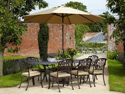 Patio Furniture Set With Umbrella - furniture patio furniture lowes walmart patio dining sets cheap