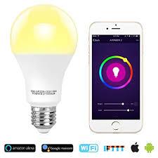 alexa light bulbs no hub tonbux wifi smart light bulb no hub required alexa color bulbs 10w