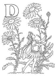 flower fairy alphabet coloring pages second half printables