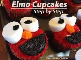 elmo cupcakes elmo cupcakes step by step weusecoupons