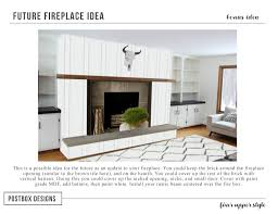 fireplace idea fixer upper fireplace makeover with just 4 items postbox