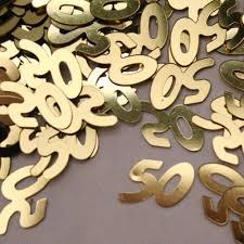 50th anniversary decorations anniversary gold confetti